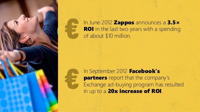 €    €        In June 2012 Zappos announces a 3.5×        ROIІ in the last two years with a spending        of about $10 m...