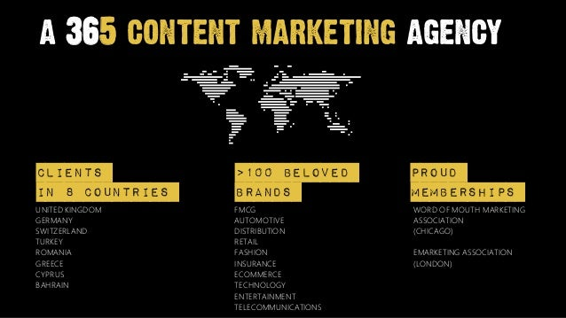a 365 content marketing agencyClients           >100 Beloved          Proudin 8 countries    brands                members...