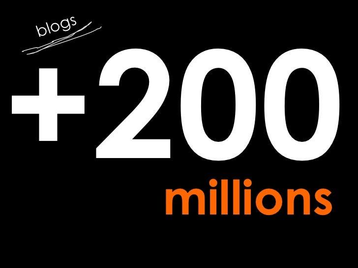 +200 blogs millions