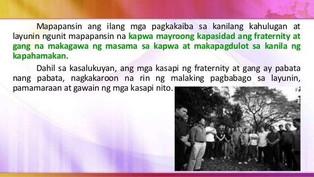 Hindi marahil tama na isisi lamang natin ang paglaganap ng gang sa musikang kanilang naririnig o sa mga pelikulang kanilan...