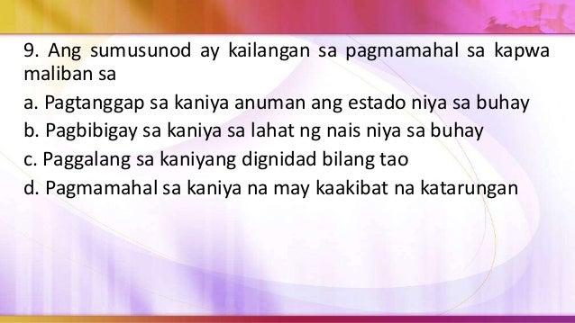 10. Ano ang pinakamaituturing na dahilan kung bakit dapat iwasan at supilin ang mga karahasan sa paaralan? a. Upang makatu...
