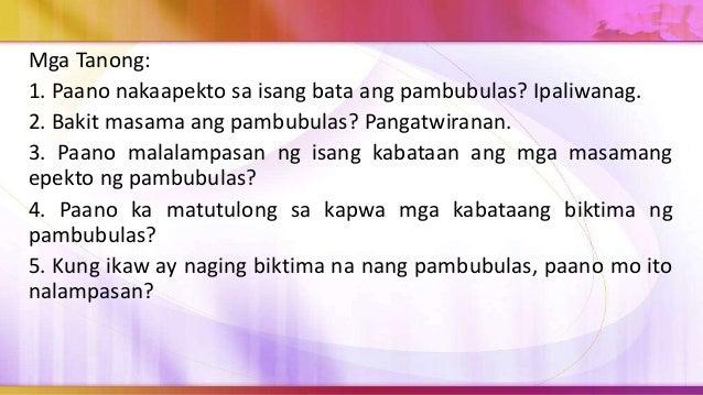 3. Makipag-ugnayan sa iba pang mga mag-aaral hanggang sa makabuo ng 5-10 kasapi ng pangkat. 4. Gumawa ng 50 kopya ng surve...