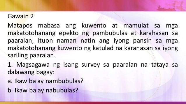 7. Matapos isagawa ang survey ay isa-isahin ang mga survey sheet upang mataya ang mga marka ng mga mag-aaral. 8. Gumawa ng...