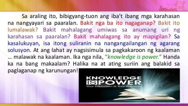 Sasagutin ng modyul na ito ang mahalagang tanong na: Bakit mahalaga ang pag-iwas sa anumang uri ng karahasan sa paaralan a...
