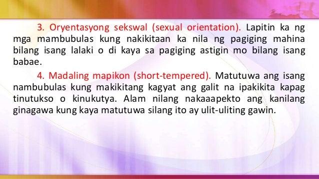 3. Isa pa sa posibleng epekto sa biktima ng pambubulas ay ang posibiliad na sila mismo ay maging marahas, maaaring sa pana...