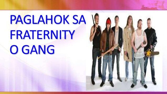 Ang fraternity naman sa kabilang dako ay isang panlipunan o akademikong organisasyon o samahan na ginagamit ang alpabetong...