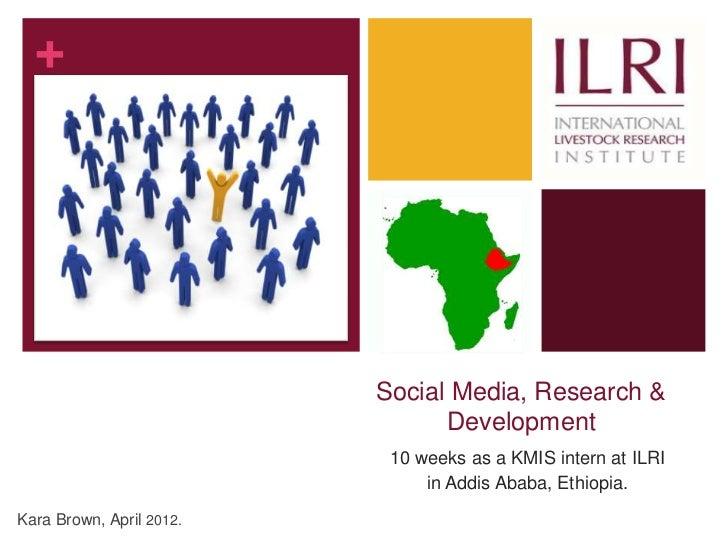 +                          Social Media, Research &                                Development                           1...