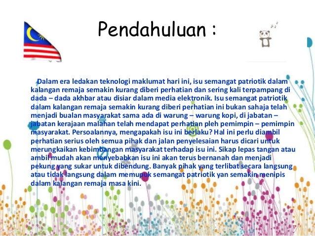 Langkah Langkah Memupuk Semangat Patriotik