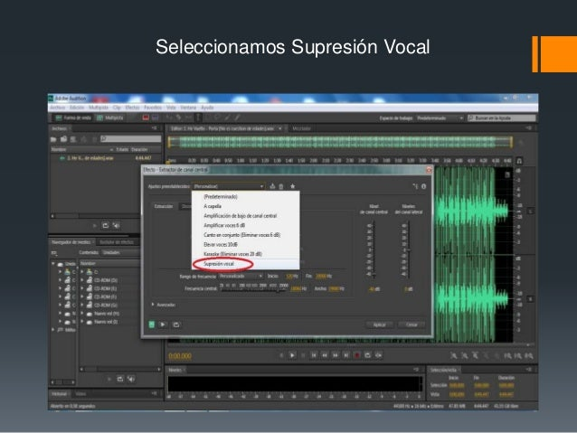 Creacion de un Karaoke con Adobe Audition