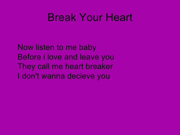 Karaoke To Break Your Heart