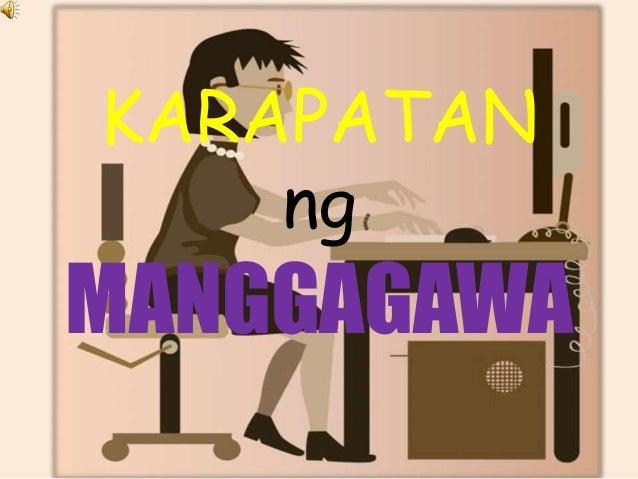 KARAPATAN ng MANGGAGAWA
