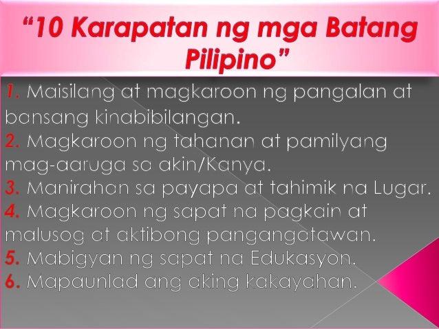 karapatan ng mga batang filipino
