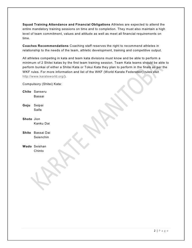 karate manitoba team handbook shotokan shito goju isshinryu chito wad rh slideshare net