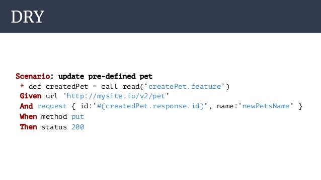 Karate - powerful and simple framework for REST API