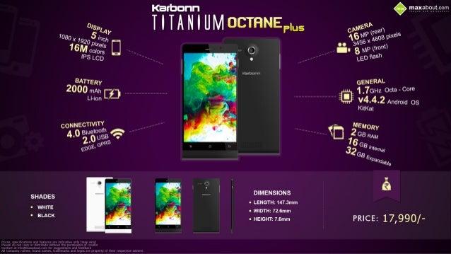 Quick Facts: Karbonn Titanium Octane Plus