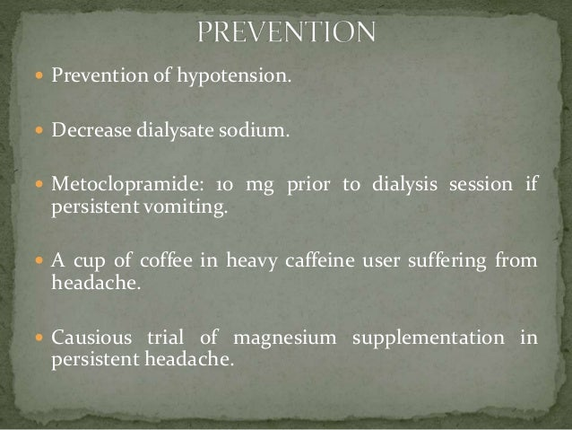 Intradialytic Hypotension