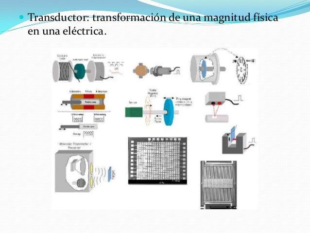  Transductor: transformación de una magnitud física en una eléctrica.
