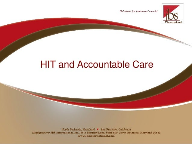 HIT and Accountable Care