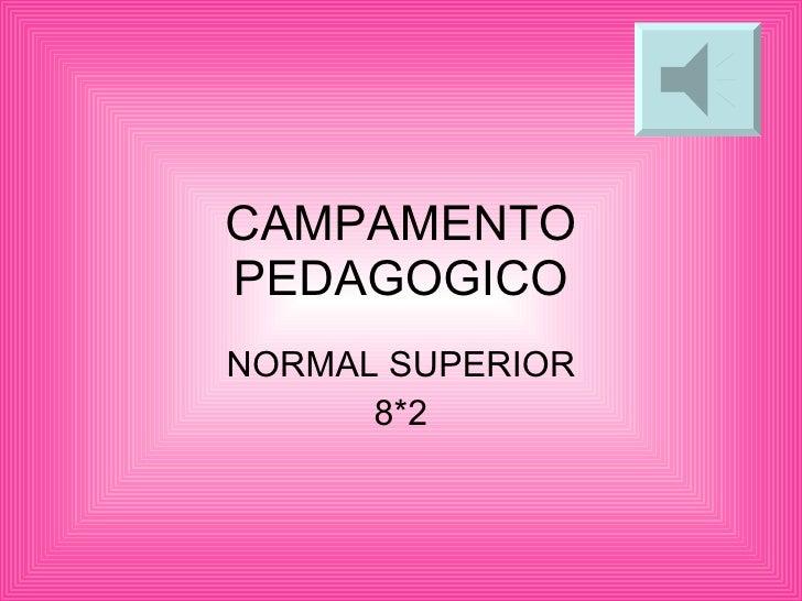 CAMPAMENTO PEDAGOGICO NORMAL SUPERIOR 8*2