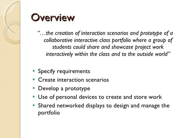 Collaborative Classroom Presentation ~ Collaborative interactive class portfolio interim presentation