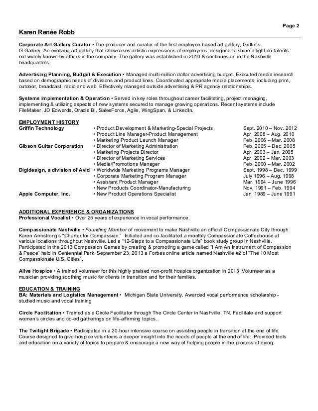 karen renee robb resume