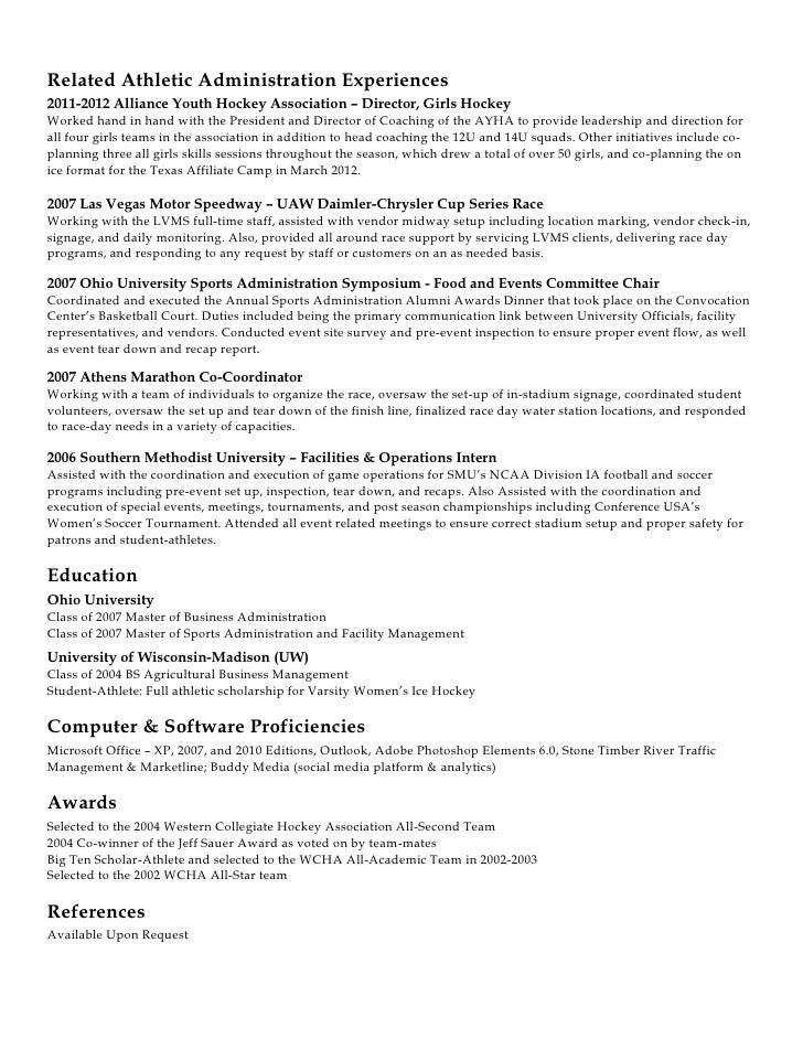 coaching resume template - Hockey Resume Template