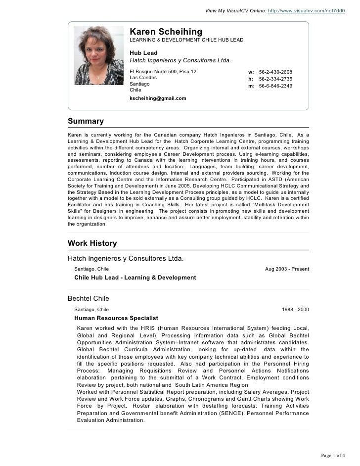 View My VisualCV Online: http://www.visualcv.com/not7dd0                          Karen Scheihing                         ...