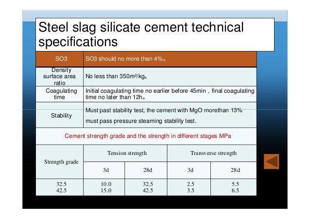 Slag Cement Density : Karen sui