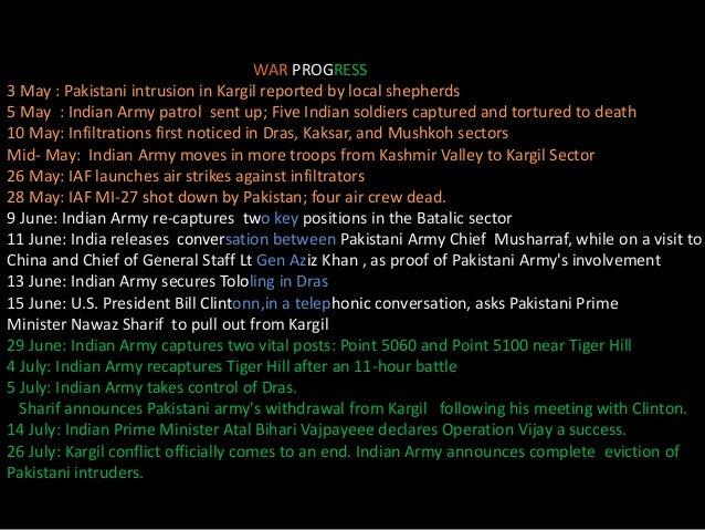 ppt on Kargil war