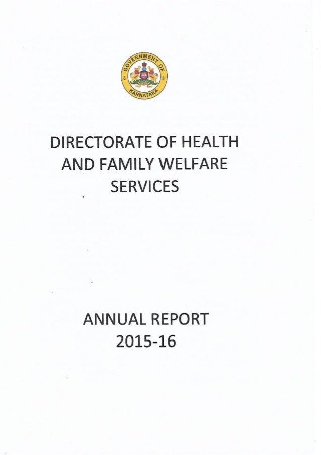 Karnataka health department annual report 2015-2016
