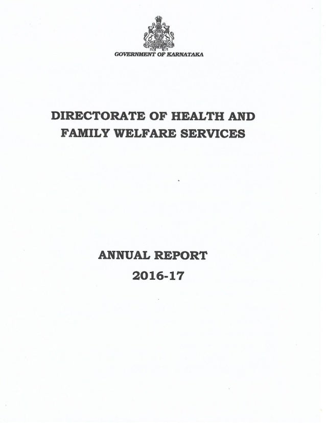 Karnataka Health Department annual report 2016-2017
