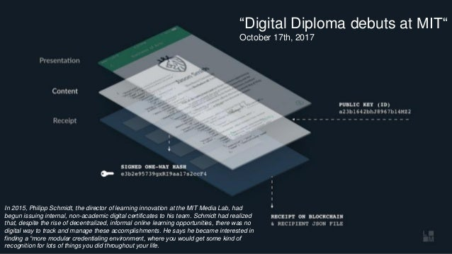 "OS.University""Digital Diploma debuts at MIT"" October 17th, 2017 In 2015, Philipp Schmidt, the director of learning innovat..."