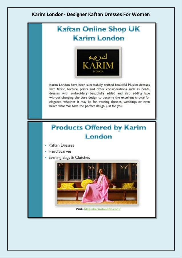 Karim London- Designer Kaftan Dresses For Women