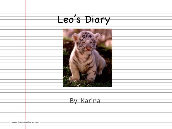 Leo's Diary  By  Karina
