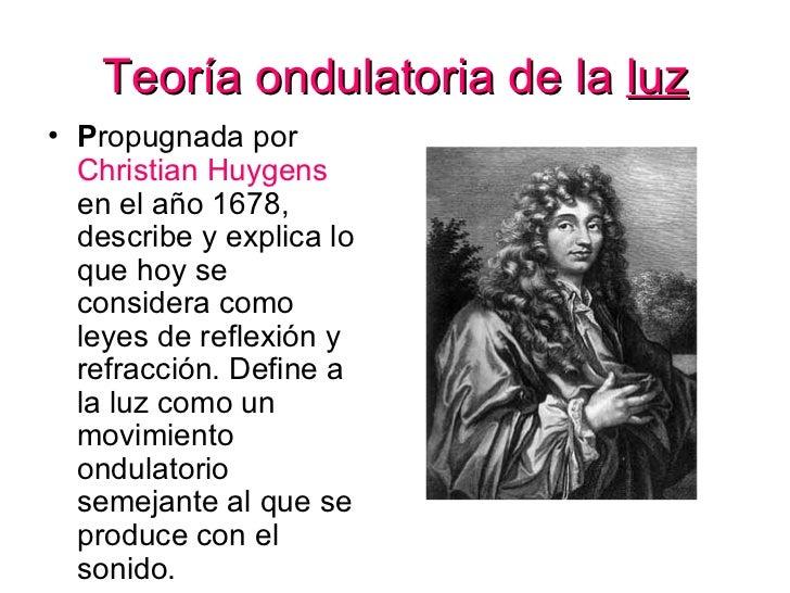 Resultado de imagen de christian Huygens y la luz