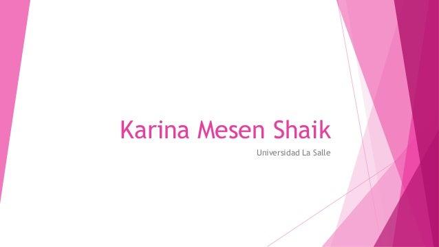 Karina Mesen Shaik Universidad La Salle