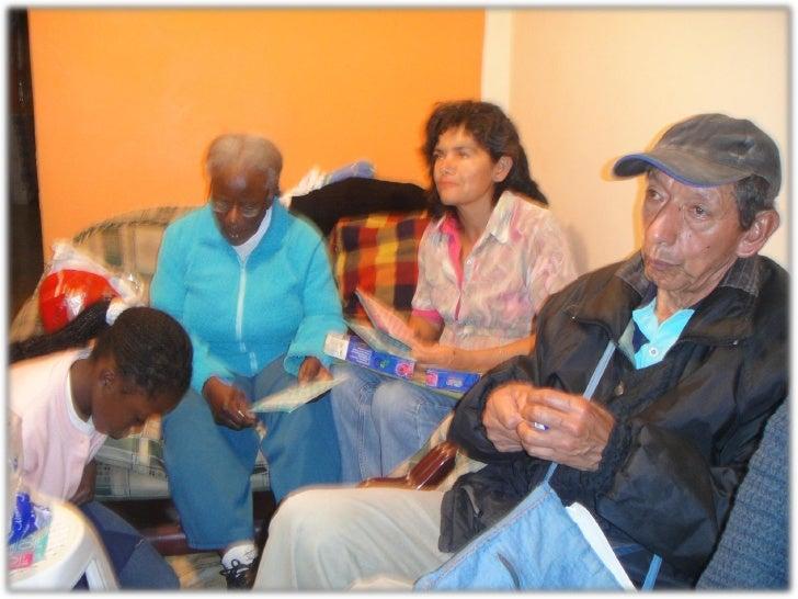1.TRABAJO DE CAMPO.                    PRIMERA VISITA:    Presentación con las 2 personas de la tercera edad,  reconocimie...