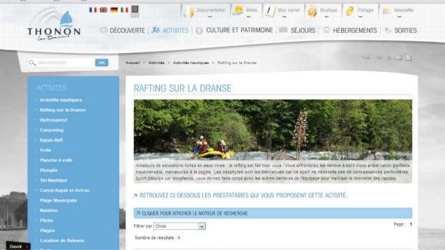 La collaboration : Pas seulement entre Offices de Tourisme • Pour co-produire de la donnée • Pour co-gérer des projets • P...
