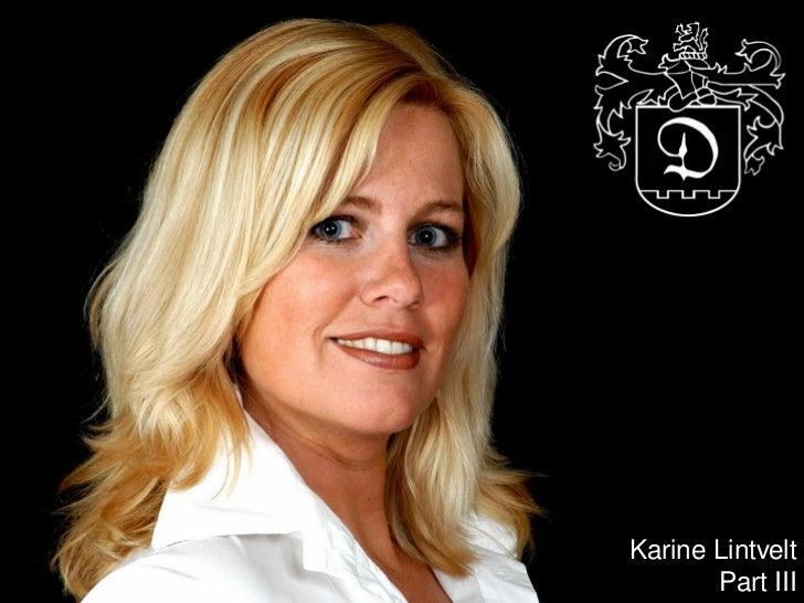 cr     Karine Lintvelt            Part III