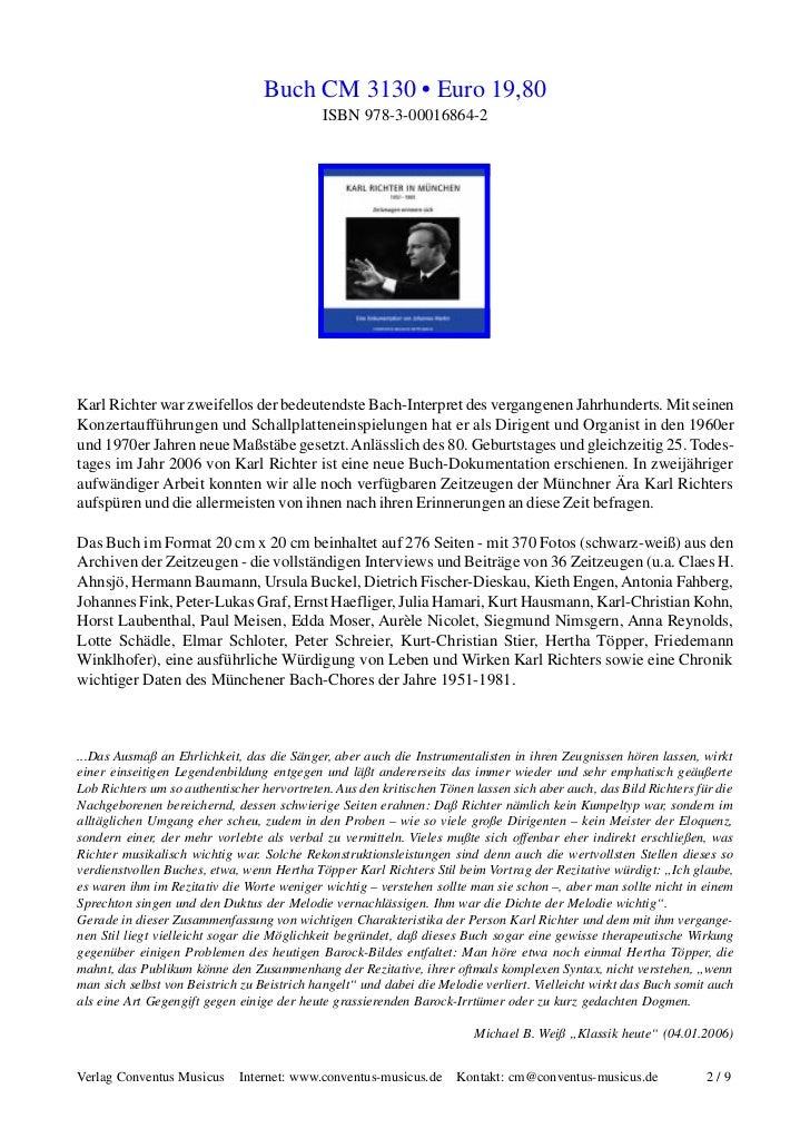 Karl Richter in Wort, Bild und Ton Slide 2