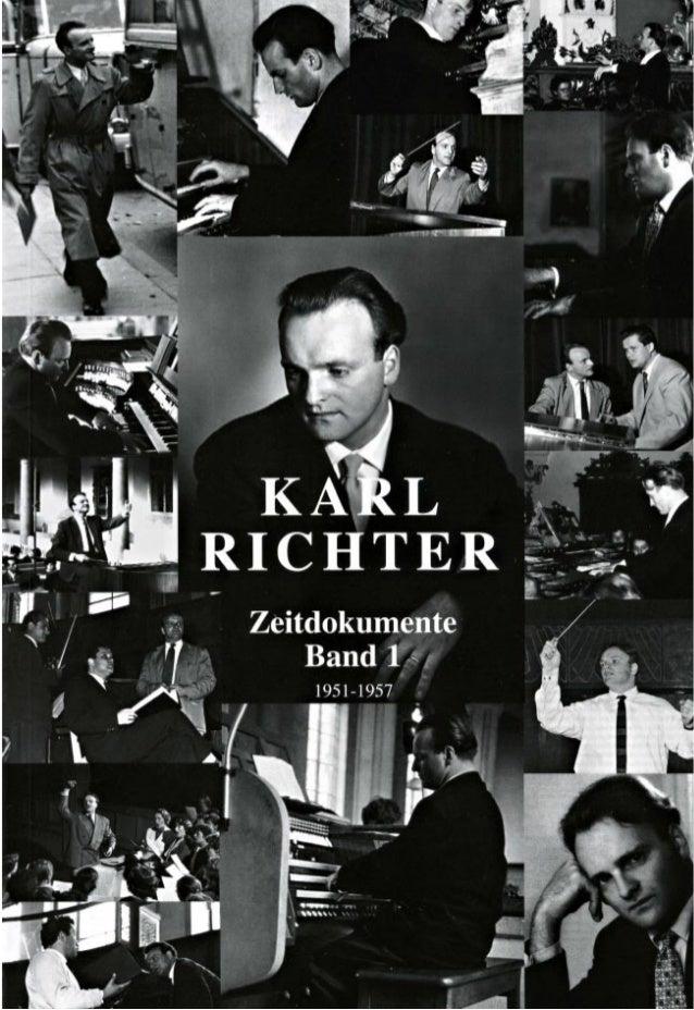 1 Karl Richter 1926 - 1981 Zeitdokumente Band 1 1951-1957 Herausgegeben von Johannes Martin