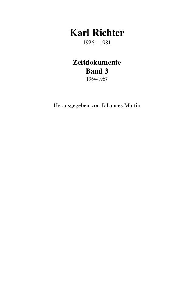 Preview: Karl Richter in Muenchen - Zeitdokumente 1964 -1967 (Volume 3) Slide 3