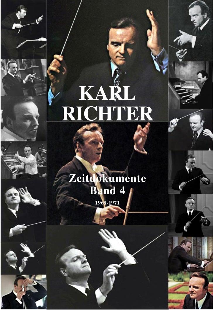 KARLRICHTERZeitdokumente    Band 4    1968-1971                1