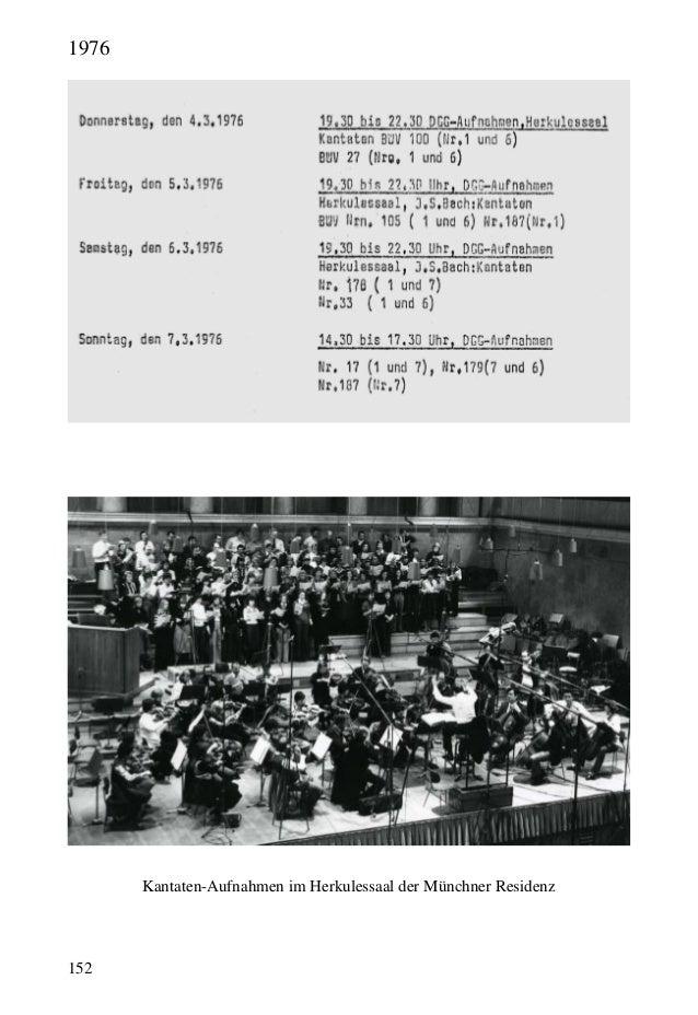 152 Kantaten-Aufnahmen im Herkulessaal der Münchner Residenz 1976