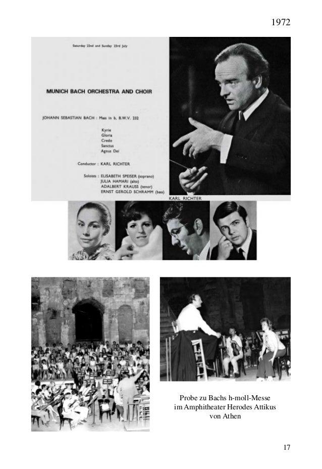 17 Probe zu Bachs h-moll-Messe im Amphitheater Herodes Attikus von Athen 1972
