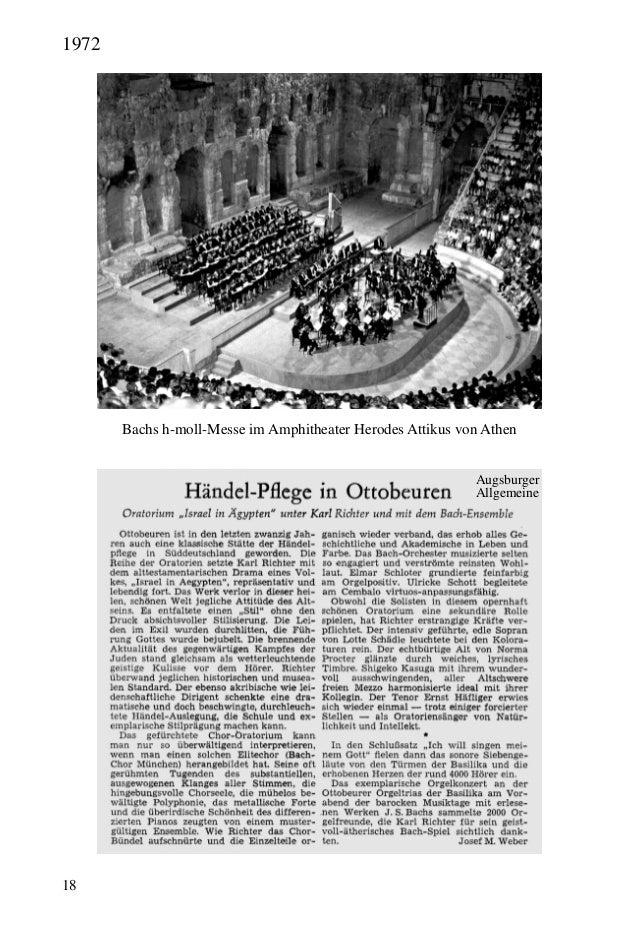 18 Bachs h-moll-Messe im Amphitheater Herodes Attikus von Athen Augsburger Allgemeine 1972