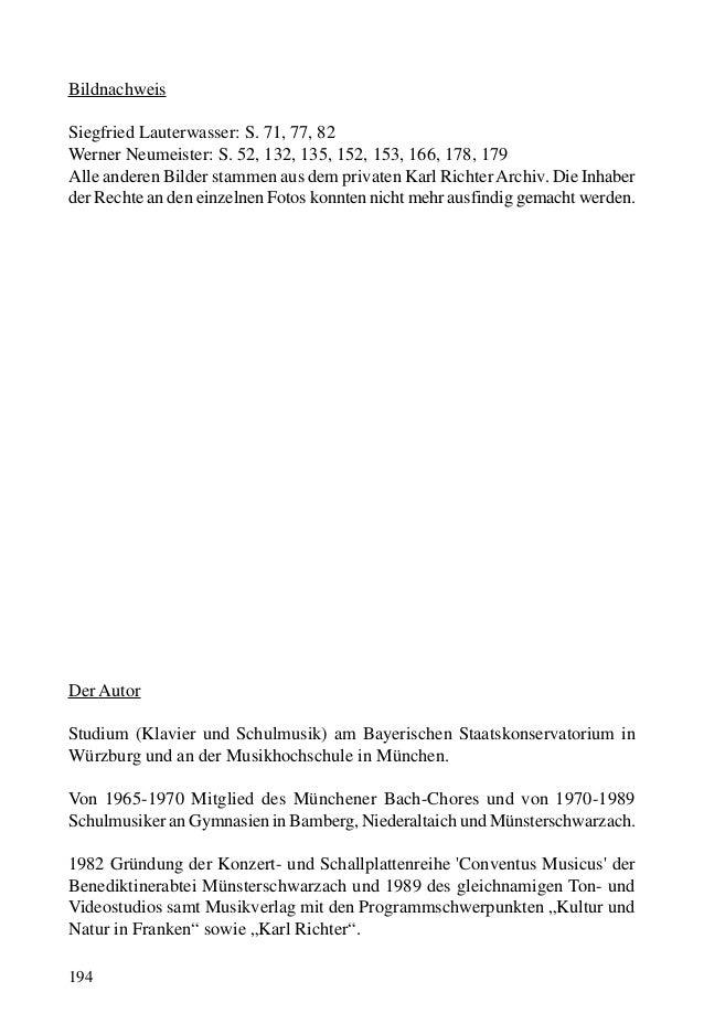194 Bildnachweis Siegfried Lauterwasser: S. 71, 77, 82 Werner Neumeister: S. 52, 132, 135, 152, 153, 166, 178, 179 Alle an...