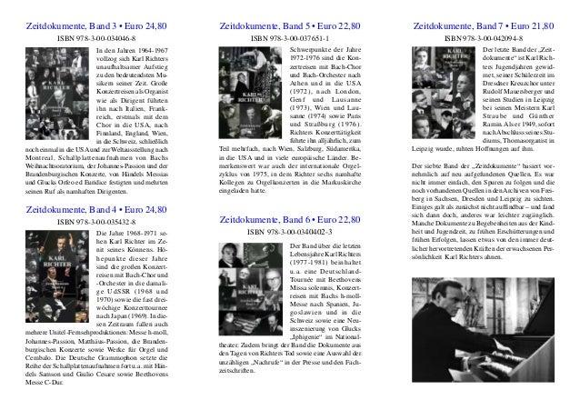 Zeitdokumente, Band 3 • Euro 24,80 ISBN 978-3-00-034046-8 In den Jahren 1964-1967 vollzog sich Karl Richters unaufhaltsame...