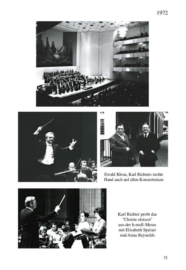 """31 Ewald Klosa, Karl Richters rechte Hand auch auf allen Konzertreisen Karl Richter probt das """"Christe eleison"""" aus der h-..."""