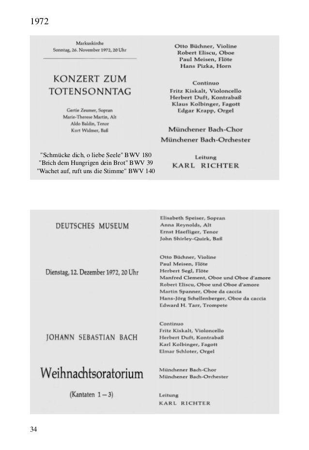 """34 """"Schmücke dich, o liebe Seele"""" BWV 180 """"Brich dem Hungrigen dein Brot"""" BWV 39 """"Wachet auf, ruft uns die Stimme"""" BWV 140..."""